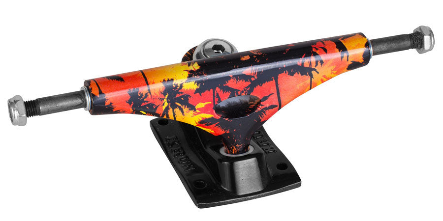 Krux 3.5 Mahollow Magnum Downlow Skateboard Trucks - 5.0 - Red/Black (Set of 2)