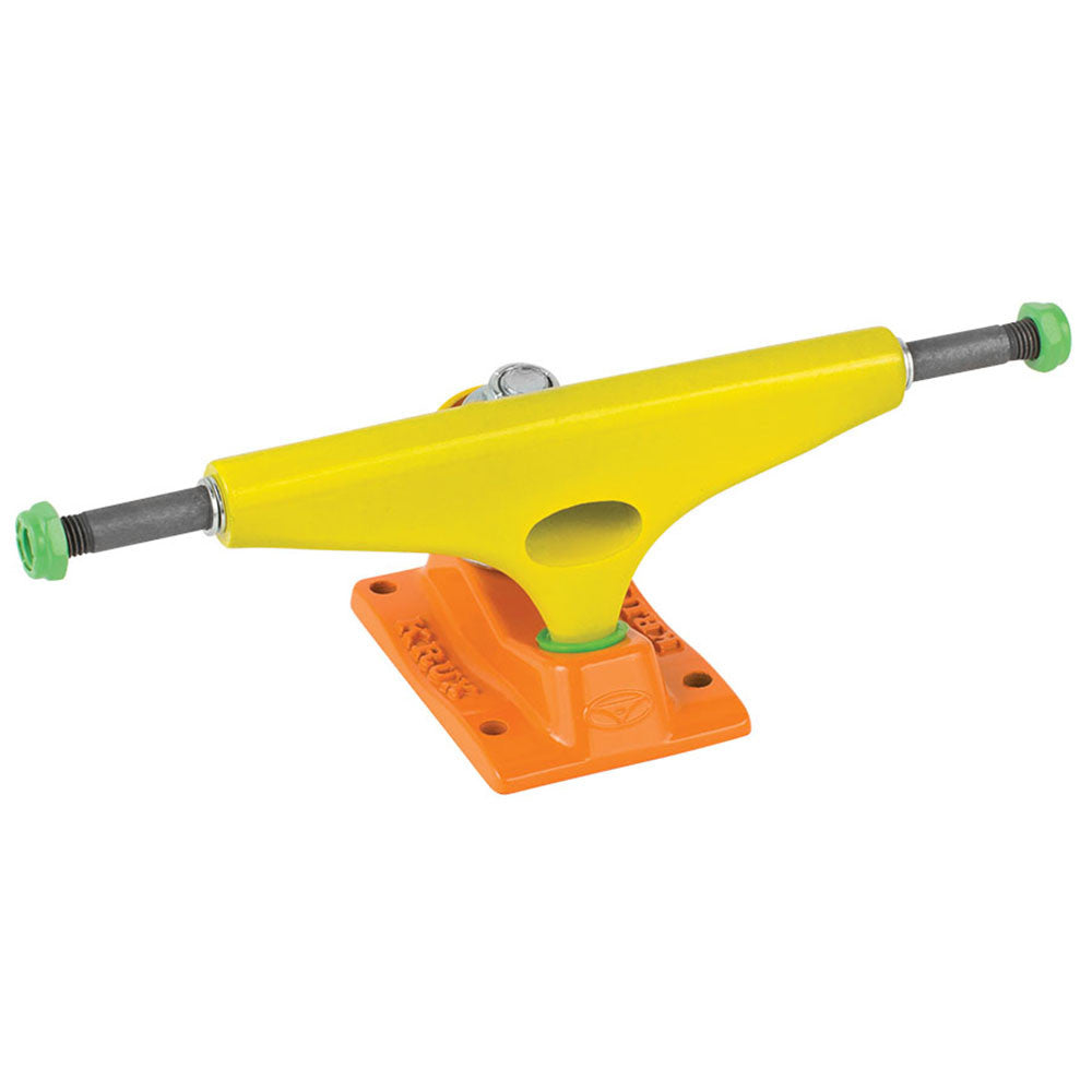 Krux 8.0 K4 The Party Standard Skateboard Trucks - Neon Yellow/Neon Orange - 5.35in (Set of 2)