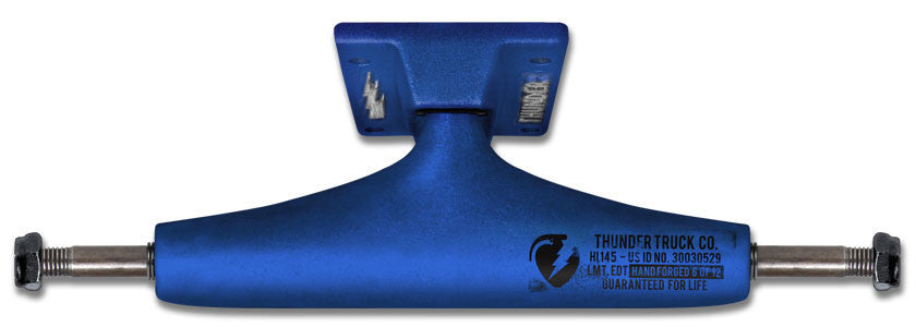 Thunder Factory Dips High Skateboard Trucks - 147mm - Blue/Blue (Set of 2)