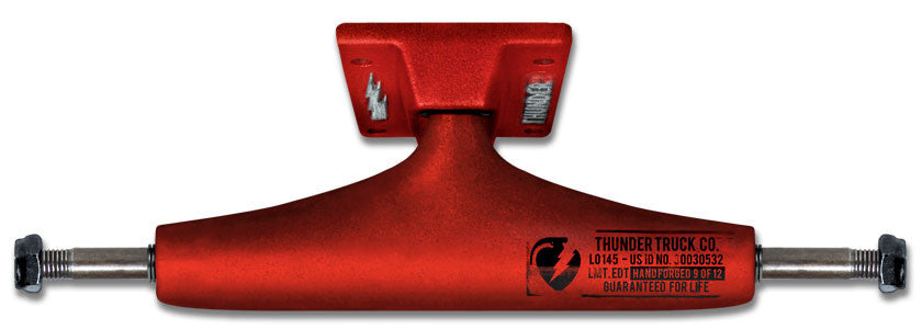 Thunder Factory Dips High Skateboard Trucks - 147mm - Red/Red (Set of 2)