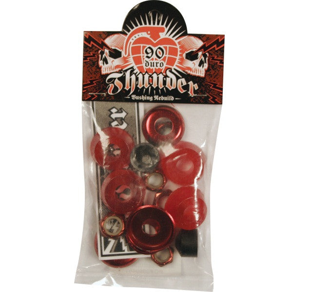 Thunder Skateboard Bushing Rebuild Kit - 90du - Red (4 PC)