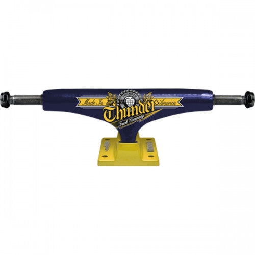 Thunder Draft High Skateboard Trucks - 147mm- Blue/Yellow (Set of 2)