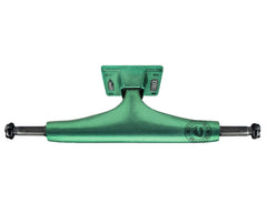 Thunder Anodized High Skateboard Trucks - 147mm - Green/Green (Set of 2)