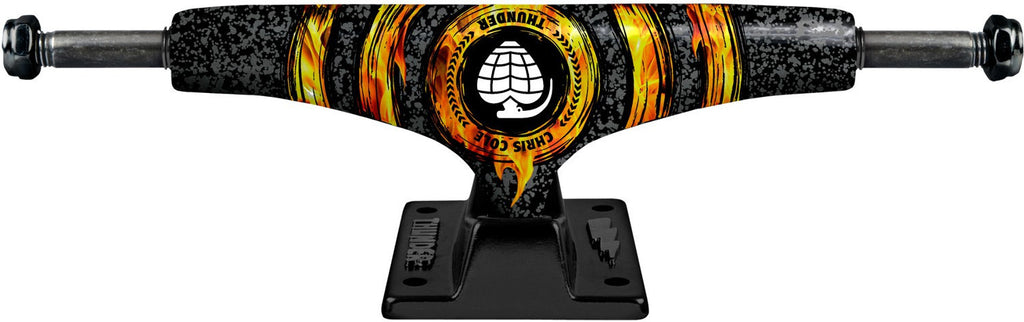 Thunder Cole Ring Of Fire Light Low Skateboard Trucks - 145mm - Black/Black (Set of 2)