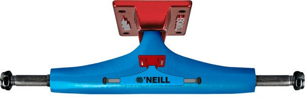 Thunder Oneil Truck Hollow Lights High Skateboard Trucks - 145mm - Blue/Red (Set of 2)