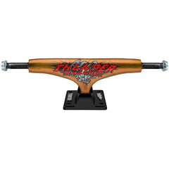 Thunder Busenitz Detonation Hollow Lights Low Skateboard Trucks - 145mm - Orange/Black (Set of 2)