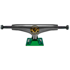Thunder Mainliner Titanium Lights High Skateboard Trucks - Black Chrome/Green - 149mm (Set of 2)
