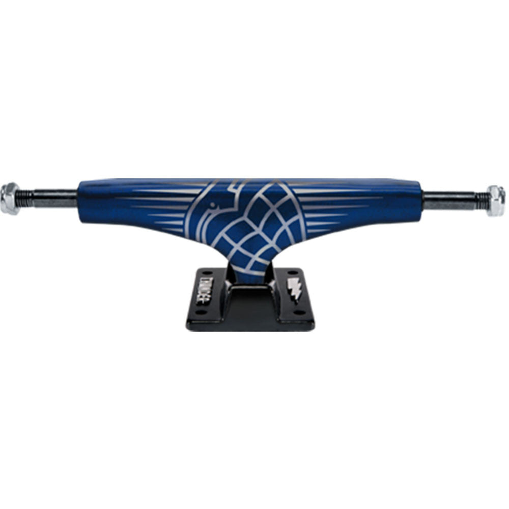 Thunder Shadow Hollow Lights High Skateboard Trucks - Dark Candy Blue/Black - 145mm (Set of 2)