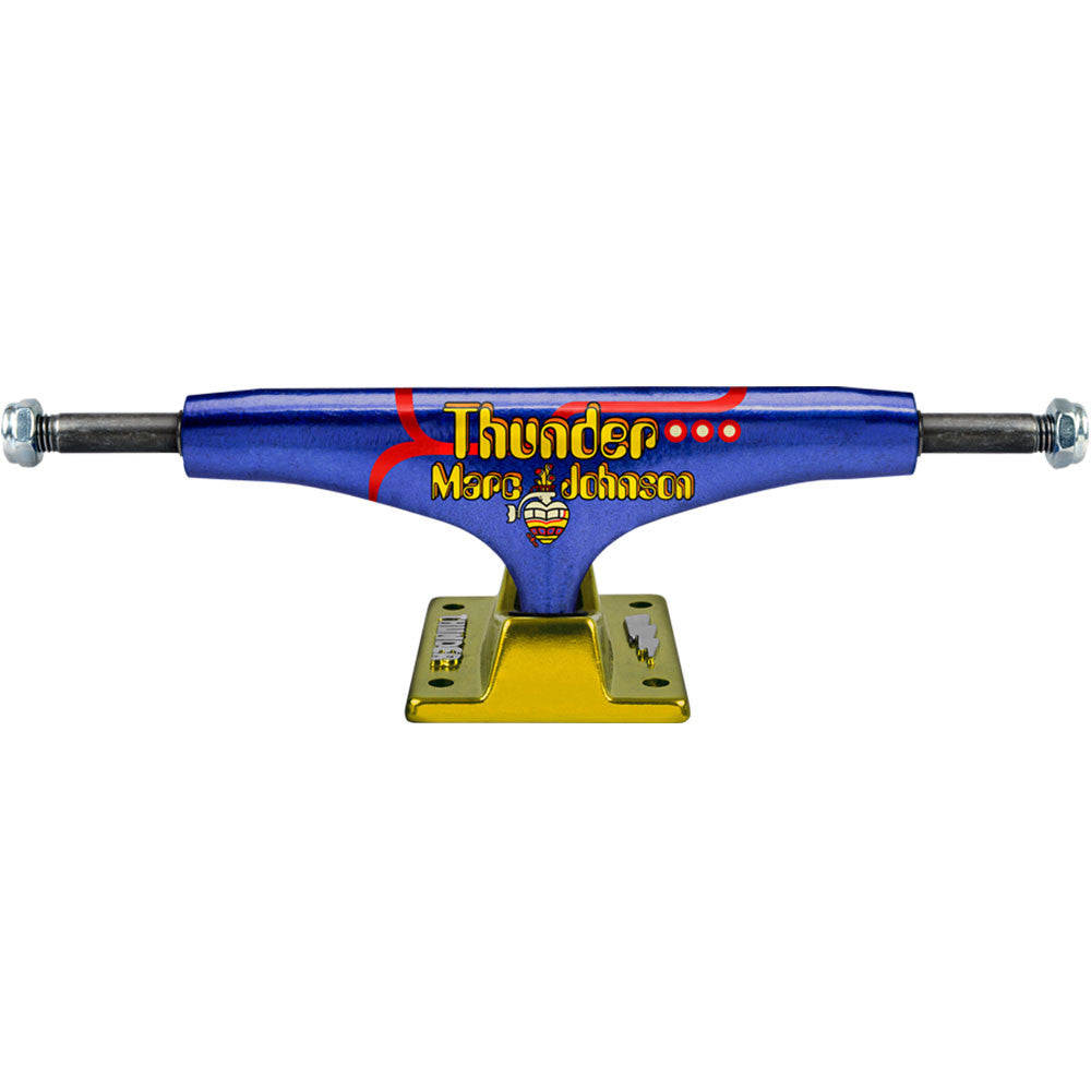 Thunder Johnson Pro Hollow Lights Low Skateboard Trucks - Blue/Yellow - 145mm (Set of 2)