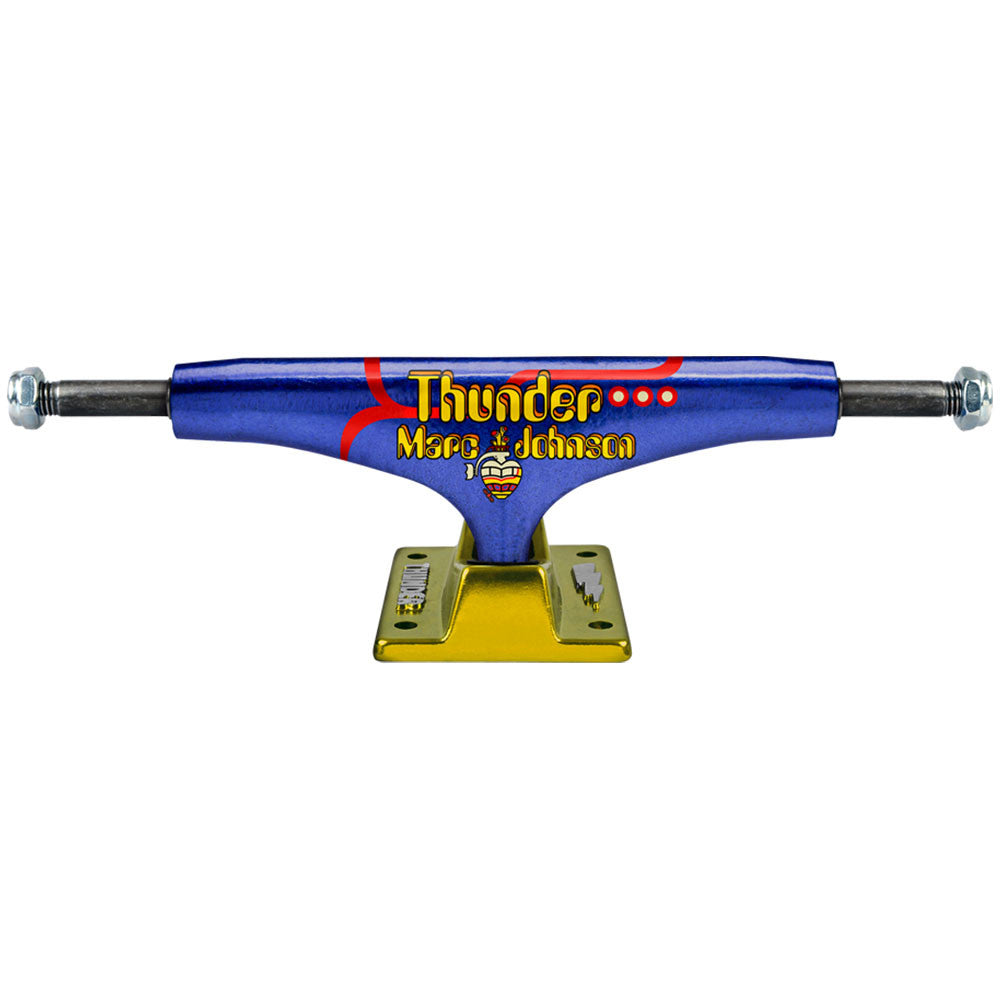 Thunder Johnson Pro Hollow Lights High Skateboard Trucks - Blue/Yellow - 145mm (Set of 2)