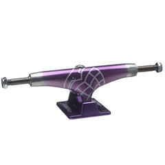 Thunder Candy Fade Light High  Skateboard Trucks (Set of 2) - Silver/Purple - 145mm