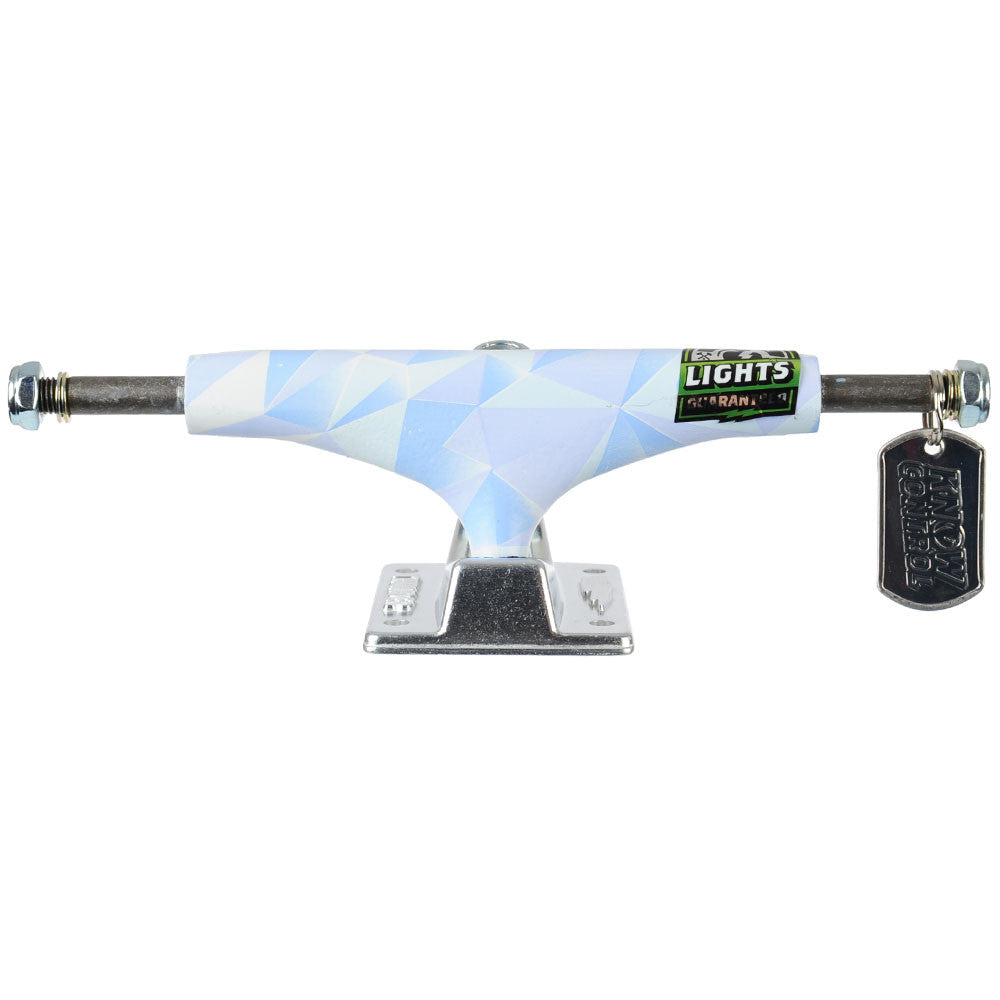 Thunder Arctic Light High Skateboard Trucks - White/Silver - 145mm (Set of 2)