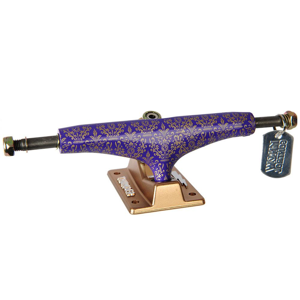 Thunder Bronze Elite Hollow Lights Skateboard Trucks - Purple/Gold - 147mm (Set of 2)