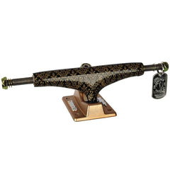 Thunder Bronze Elite Hollow Lights Skateboard Trucks - Black/Gold - 147mm (Set of 2)