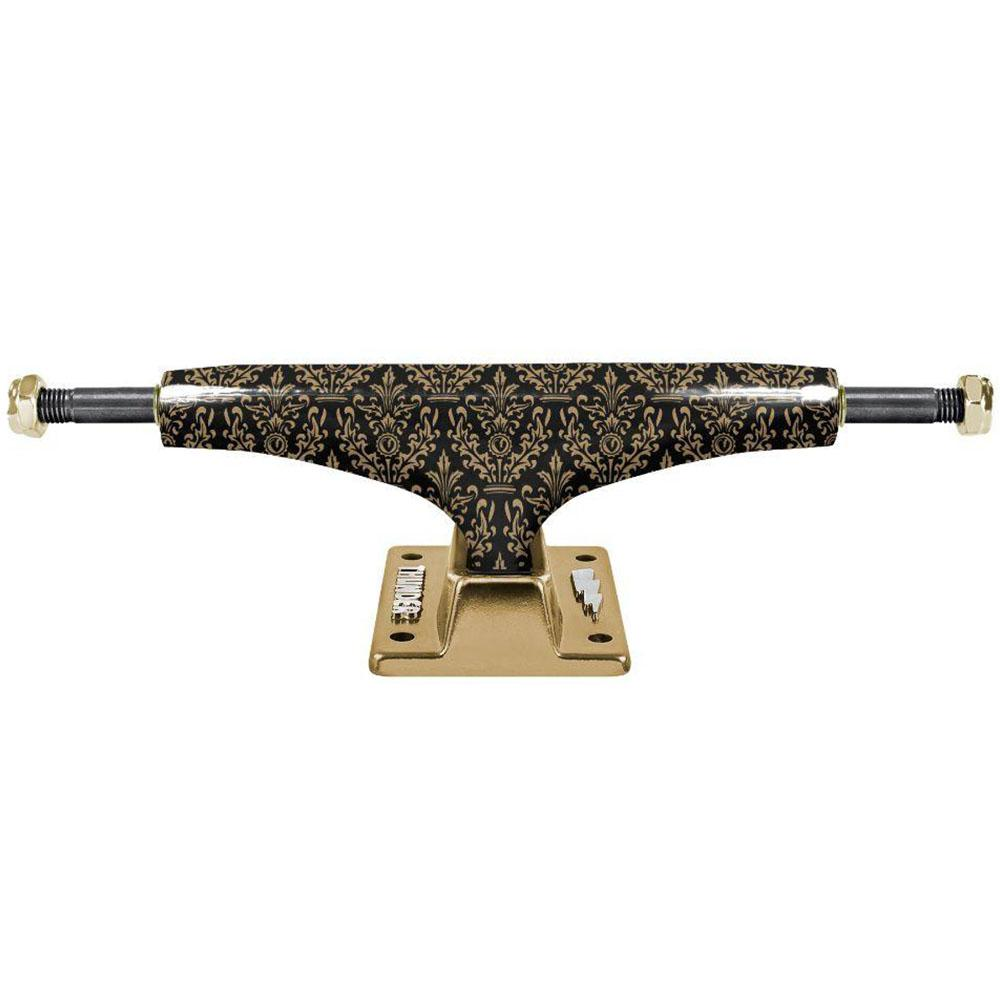 Thunder Bronze Elite Hollow Lights Skateboard Trucks - Black/Gold - 149mm (Set of 2)