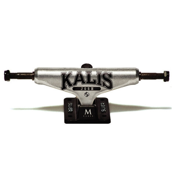 Silver Kalis Everlast Skateboard Trucks - 8.0 - Raw/Black (Set of 2)