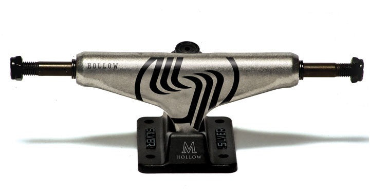 Silver M Class Hollow - Raw/Black - 8.25in - Skateboard Trucks (Set of 2)