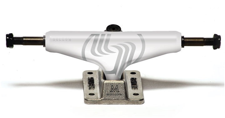 Silver M Class Hollow - White/Silver - 8.0in - Skateboard Trucks (Set of 2)