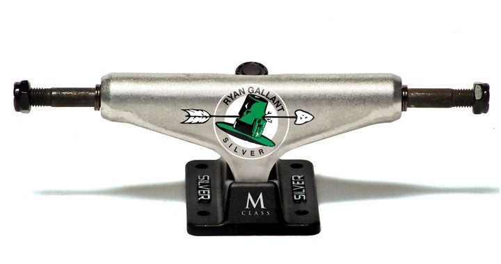 Silver M Class Gallant Signture - Silver/Black - 7.75in - Skateboard Trucks (Set of 2)