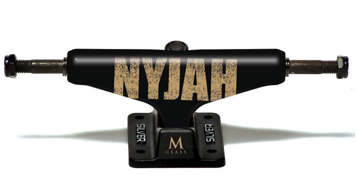 Silver M Class Nyjah Bold - Black - 7.5in - Skateboard Trucks (Set of 2)
