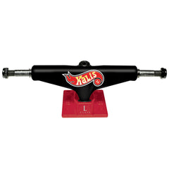 Silver L Class Pro Kalis Skateboard Trucks - Black/Red - 8.0in (Set of 2)