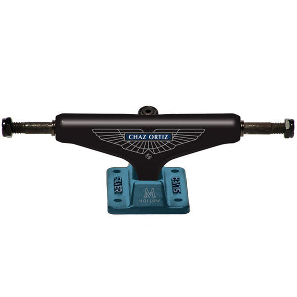 Silver M Class CO A&M Skateboard Trucks - Black/Teal - 8.25in (Set of 2)