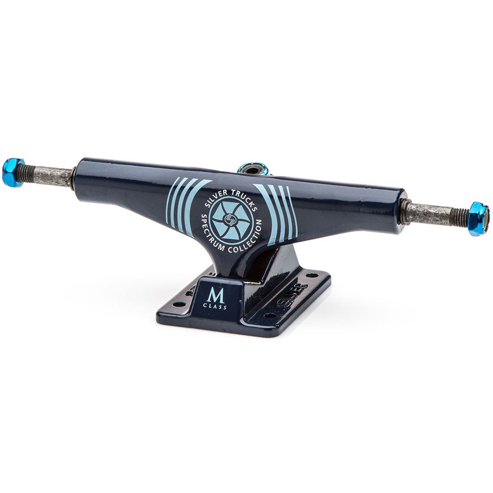 Silver M Class Skateboard Trucks - Spectrum Blue - 8.0in (Set of 2)