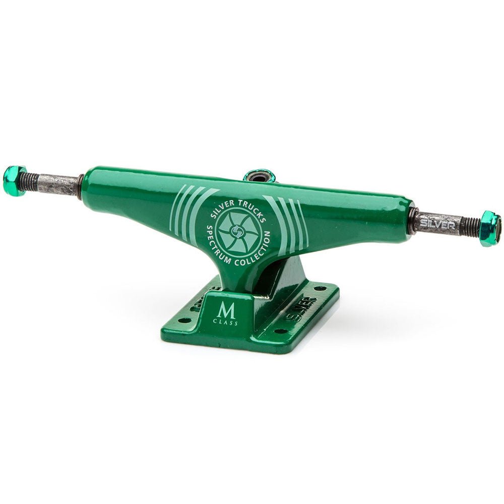 Silver M Class Skateboard Trucks - Spectrum Green - 8.0in (Set of 2)