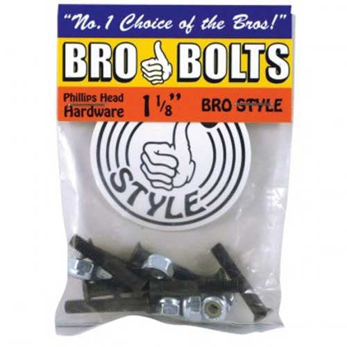 "Bro Style Hardware Phillips 1 1/8"" - Skateboard Mounting Hardware"