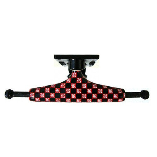 Royal Evolution Checkers Skateboard Trucks - 5.0 - Red Checker/Black (Set of 2)
