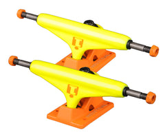Industrial Skateboard Trucks - 5.0 - Neon Yellow/Tangerine (Set of 2)