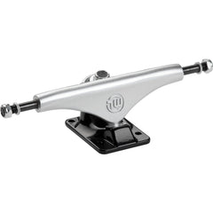 Mini Logo Split Skateboard Trucks - Silver/Black - 7.63in (Set of 2)