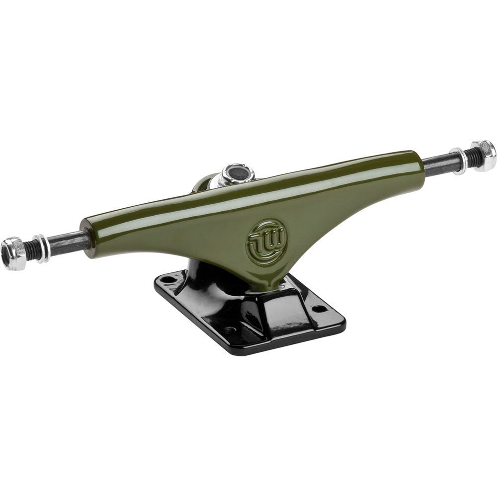 Mini Logo Split Skateboard Trucks - Green/Black - 8.38in (Set of 2)
