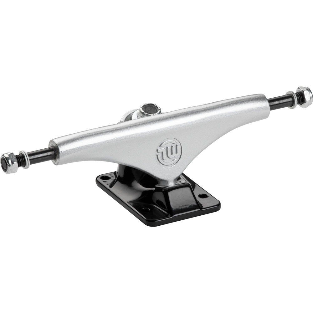 Mini Logo Split Skateboard Trucks - Silver/Black - 8.38in (Set of 2)