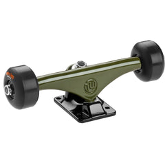 "Mini Logo Trucks - 7.63"" Green/Black - ML Bearings - 53mm 90a Black Wheels (Set of 2)"