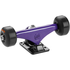 "Mini Logo Trucks - 7.63"" Purple/Black - ML Bearings - 53mm 90a Black Wheels (Set of 2)"