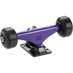 "Mini Logo Trucks - 8.38"" Purple/Black - ML Bearings - 53mm 101a Black Wheels (Set of 2)"