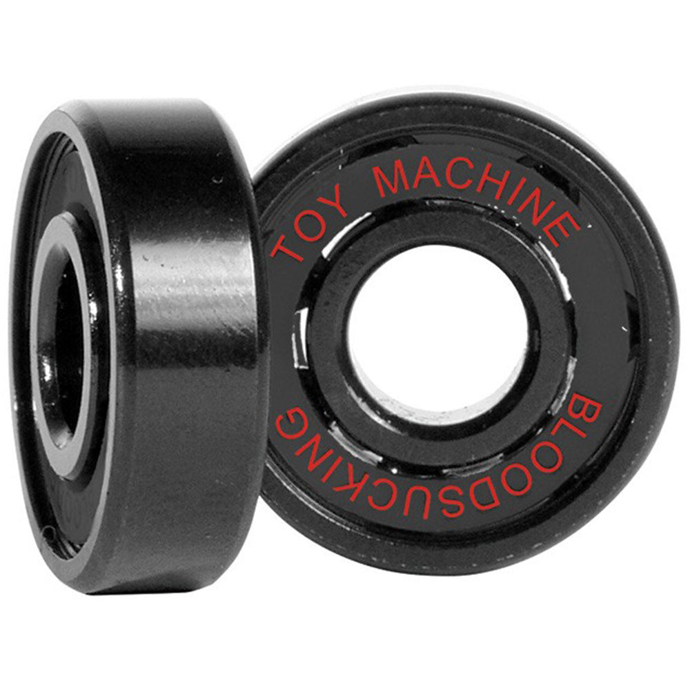 Toy Machine Transistor Sect Bloodshot Skateboard Bearings - Black (8 PC)