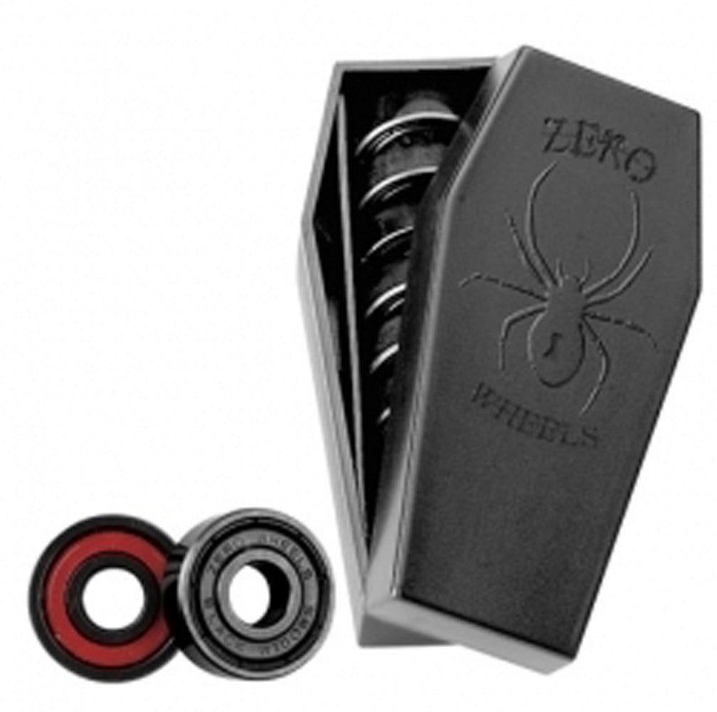 Zero Black Widow Skateboard Bearings - Abec 5 - Black (8 PC)