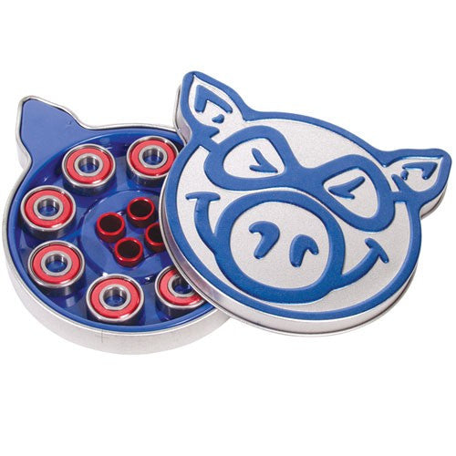 Pig Pig Tin Skateboard Bearings - Abec 3 (8 PC)