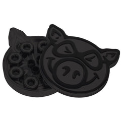 Pig Black OPS Pig Tin Skateboard Bearings - Abec 5 (8 PC)