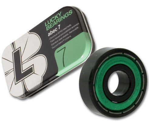 Lucky's Lucky Green Skateboard Bearings - Abec 7 (8 PC)