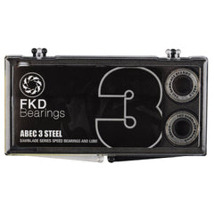 FKD Clear Case Skateboard Bearings - Abec 3 (8 PC)