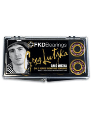 FKD Lutzka Gold Series Skateboard Bearings - Abec 7 (8 PC)