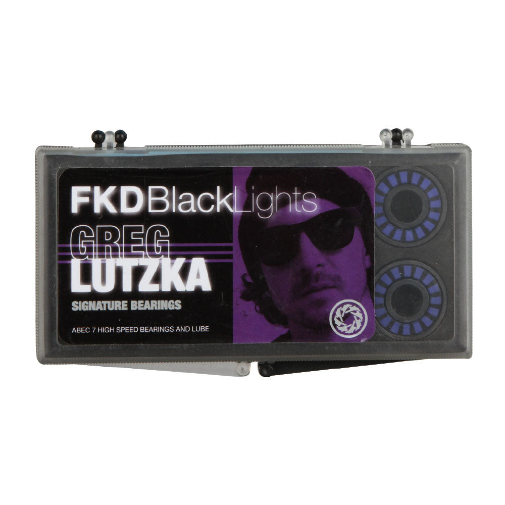 FKD Greg Lutzka Blacklight Series Skateboard Bearings - Abec 7 (8 PC)