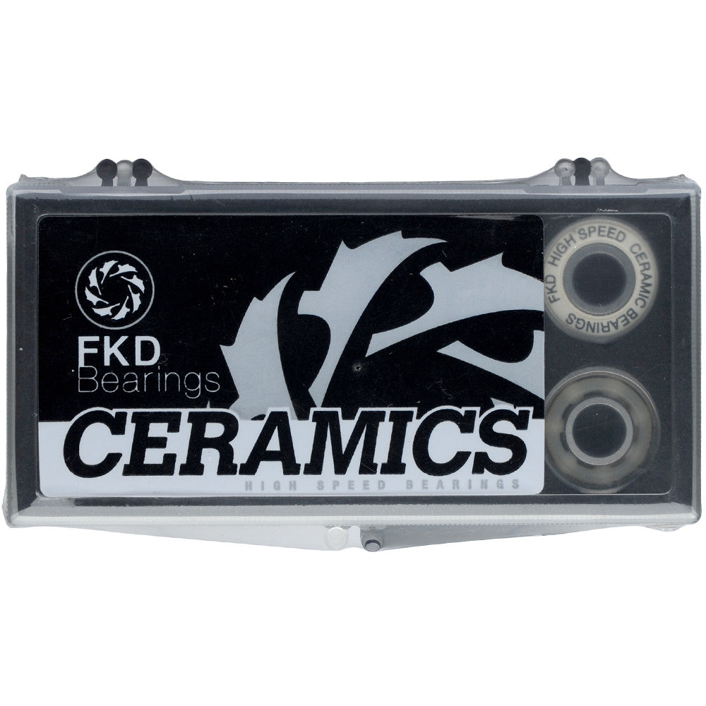 FKD Ceramic Skateboard Bearings (8 PC)