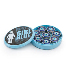 Girl Skateboard Bearings - Abec 3 - Blue (8 PC)