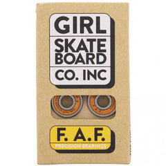 Girl F.A.F. Precision Skateboard Bearings (8 PC)
