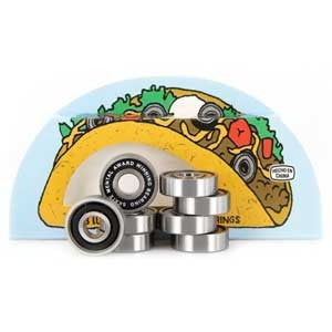 Skate Mental Taco Skateboard Bearings (8 PC)