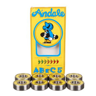 Andale Skateboard Bearings - Abec 5 (8 PC)